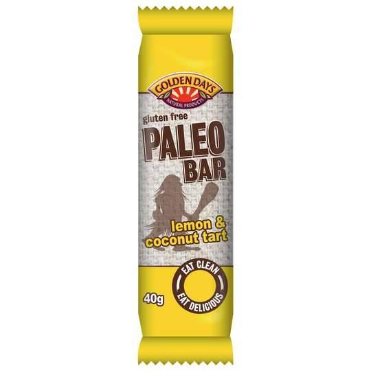 Golden Days Paleo Bar Lemon & Coconut Tart
