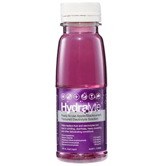 Hydralyte Kids Electrolyte Rehydration Apple Blackcurrant