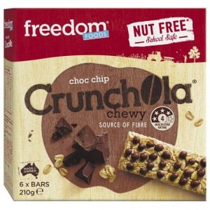 Freedom Crunchola Choc Chip Bars