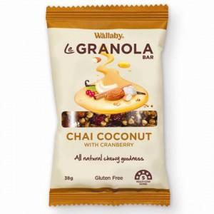 Wallaby Le Granola Bar Chai Coconut & Cranberry