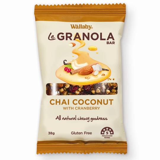 Wallaby Le Granola Bar Chai Coconut & Cranberry