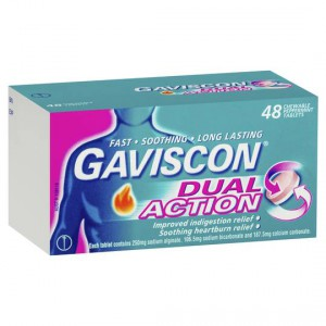 Gaviscon Dual Action Heartburn & Indigestion Relief Chewable Tablets Peppermint