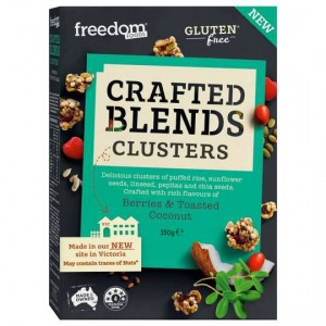 Freedom Foods Crafted Blend Clusters Berries And Coconut