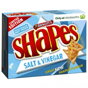 Arnott's Shapes Salt And Vinegar