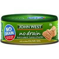 John West Tuna No Drain Olive Oil