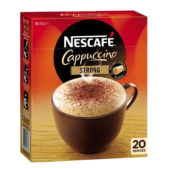 Nescafe Cafe Menu Strong Cappucino