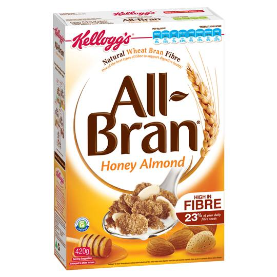 Kellogg's All Bran Honey Almond Wheat Flakes