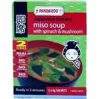 Pandaroo Japanese Instant Miso Soup Spinach