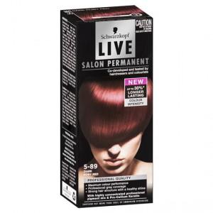 Scharzkopf Live Salon Hair Colour 5.89 Dark Ruby Red