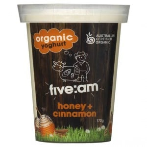 Five:am Organic Honey & Cinnamon Yoghurt