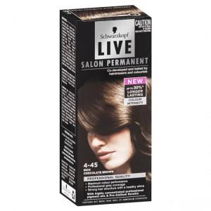 Scharzkopf Live Salon Hair Colour 4.45 Rich Chocolate Brown