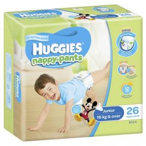 Huggies Nappy-pants Junior Boy 16kg+ Bulk