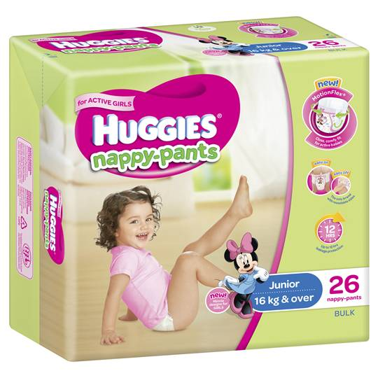 Huggies Nappy-pants Junior Girl 16+kgs Bulk