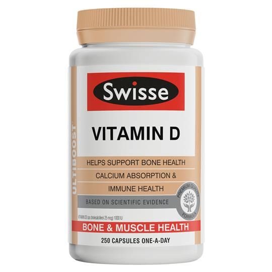 Swisse Ultiboost Vitamin D 250 Caps