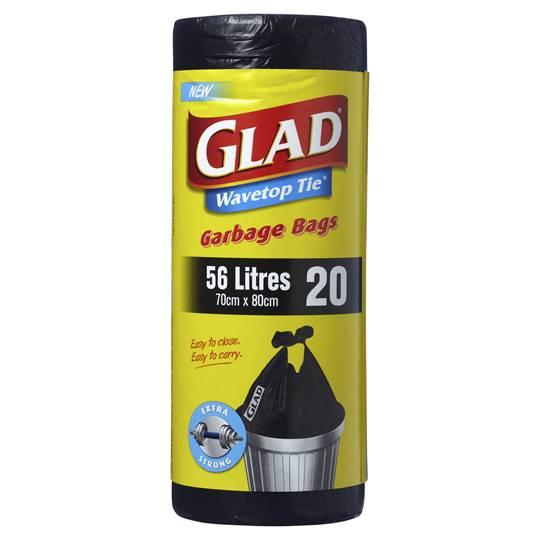 Glad Wavetop Garbage Bags 56 Litres