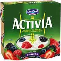 Danone Activia Low Fat Yoghurt With Berries & Added Cultures