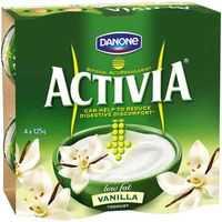 Danone Activia Low Fat Yoghurt Vanilla With Added Cultures