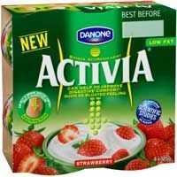 Danone Activia Low Fat Yoghurt Strawberry