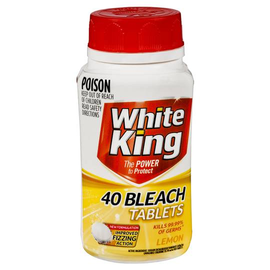 White King Bleach Lemon Tablets