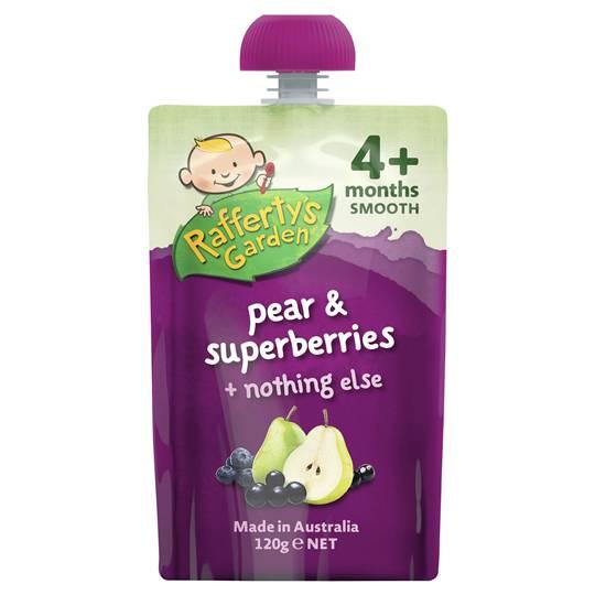 Rafferty's Garden Food 4 Months+ Pear & Superberries