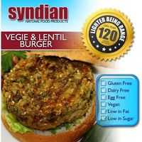 Syndian Lighter Vegetarian Lentil Burger Patties