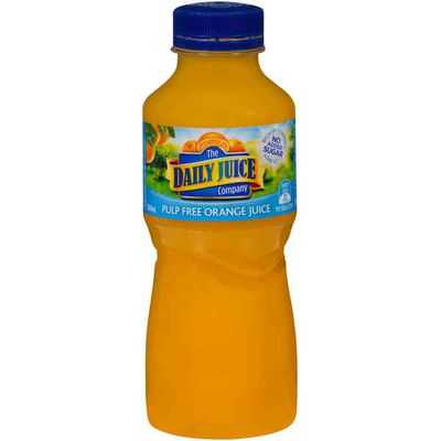 Daily Juice Orange Juice Pulp Free