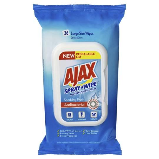 Ajax Spray N Wipe Multipurpose Wipes Sparkling Fresh