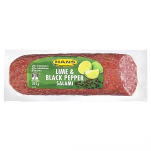 Hans Salami Lime And Black Pepper
