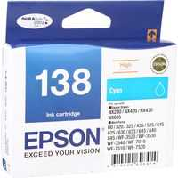Epson Printer Ink 138 Cyan High Capacity