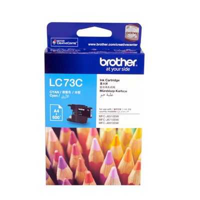 Brother Printer Ink Lc73c Cyan High Yield
