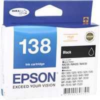 Epson Printer Ink 138 Black High Capacity