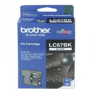 Brother Printer Ink Lc67bk Black