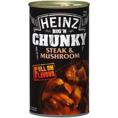 Heinz Big N Chunky Canned Soup Steak & Mushroom