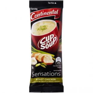 Continental Sensations Roast Chicken Soup With Sour Cream & Spring Onion