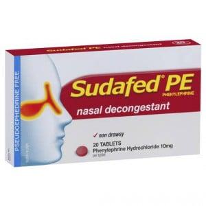 Sudafed Pe Nasal Decongestant