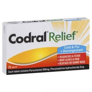 Codral Relief Cold & Flu Plus Decongestant