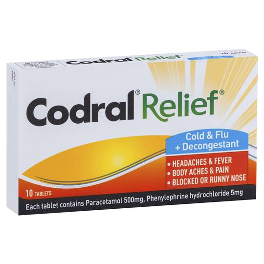 Codral Relief Cold & Flu Plus Decongestant