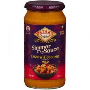 Pataks Simmer Sauce Cashew & Coconut