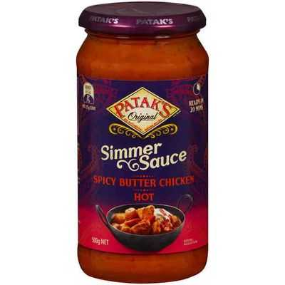 Pataks Simmer Sauce Spicy Butter Chicken Hot