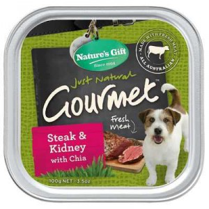Nature's Gift Adult Dog Food Steak & Kidney With Chia