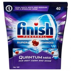 Finish Powerball Quantum Max Dishwashing Tablets With Baking Soda