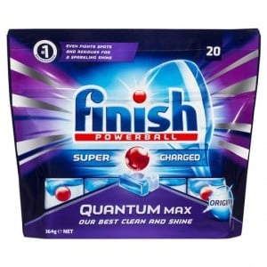 Finish Powerball Quantum Max Dishwashing Tablets With Baking Soda
