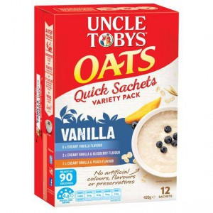 Uncle Tobys Quick Oats Variety Pack Vanilla