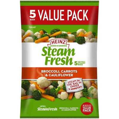 Heinz Steam Fresh Broccoli Carrots & Cauli