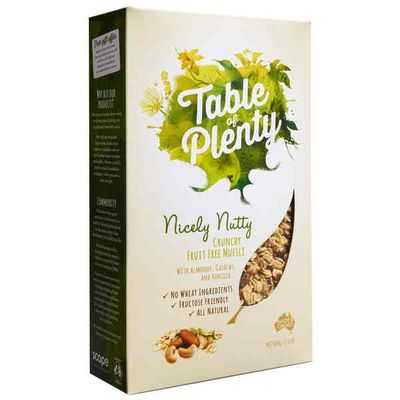 Table Of Plenty Nicely Nutty Muesli