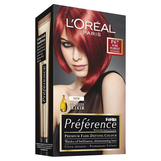 L'oreal Preference P67 Scarlet Intense Red
