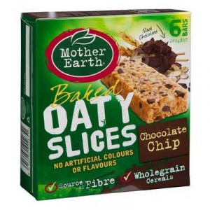 Mother Earth Chocolate Chip Oaty Slice