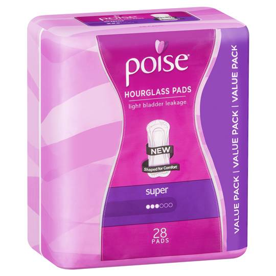 Poise Hourglass Pads Super