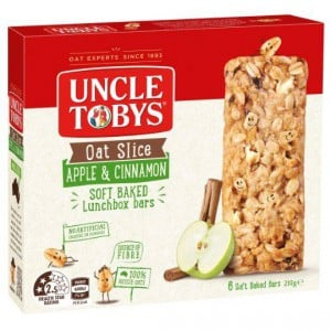 Uncle Tobys Oat Slice Apple & Cinnamon