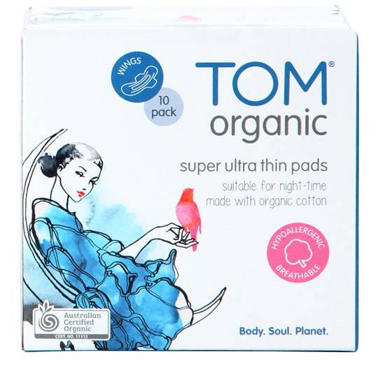 Tom Organic Pads Night Time
